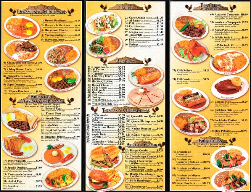 Washington Square Restaurant Menu